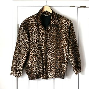Vintage Fuda International silk leopard jacket